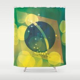FLAG - BRAZIL LIGHT Shower Curtain