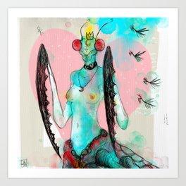 Princesa Mantis Art Print