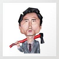 Glenn The Walking Dead Art Print