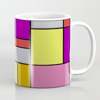 mondrian Mugs featuring Mondrian #6 by Ron Trickett