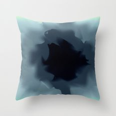 Unfurled Ink Throw Pillow