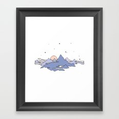 MOUNTAINS IN THE SKY Framed Art Print