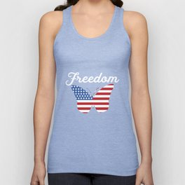 Butterfly Freedom USA Flag Proud American Patriot Unisex Tank Top