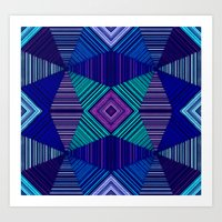 tapestry Art Prints featuring Tapestry  by Truly Juel