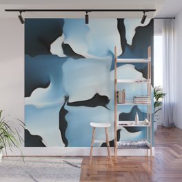 Blue camouflage Wall Mural