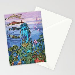 Koinobori hover in the wind Stationery Cards