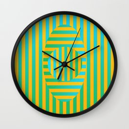 Button Stripe Wall Clock