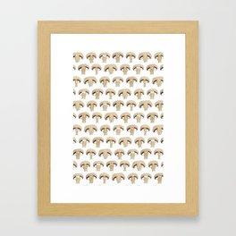 Many champignon slices pattern Framed Art Print