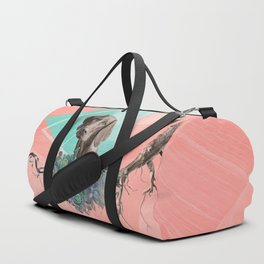 Eclectic Geometric Redbone Coonhound Dog Duffle Bag