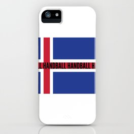 Norway Norge National Flag Handball iPhone Case