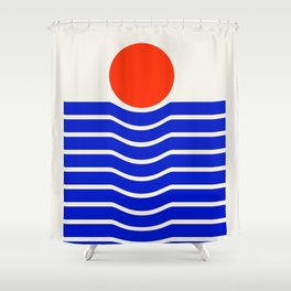 Going down-modern abstract Shower Curtain