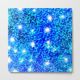 Hedge with Starlight Metal Print