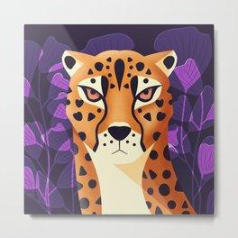 Wildlife 002 Cheetah Metal Print