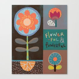 Flowerful Canvas Print