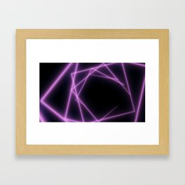 Abstract background with neon triangles. Framed Art Print