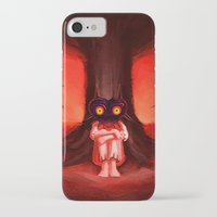 majora iPhone & iPod Cases featuring MAJORA MASK by Veylow
