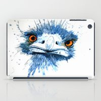 pee wee iPad Cases featuring PEE PEE the Emu by Louise Sheehy