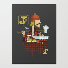 Jack of Hearts Canvas Print