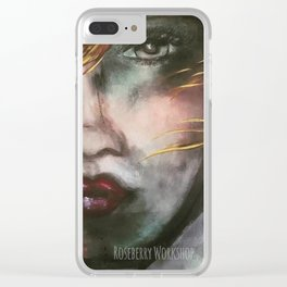 Lady Roseberry Clear iPhone Case