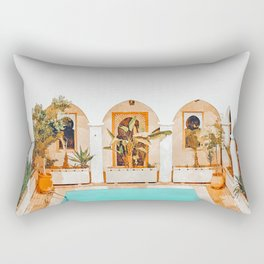 Turkish Holiday #painting #travel Rectangular Pillow