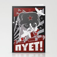 soviet Stationery Cards featuring grumpy soviet by tshirtsz