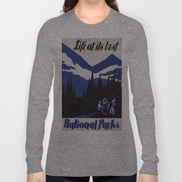 Vintage poster - National parks Long Sleeve T-shirt