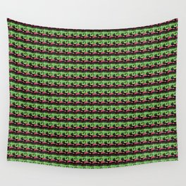 Night Cat - limegreen Wall Tapestry