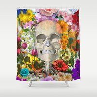 kindle Shower Curtains featuring by solomongo 1 by ALLSKULL.NET
