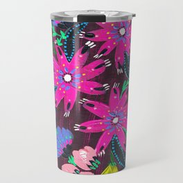 Magenta Bouquet Travel Mug