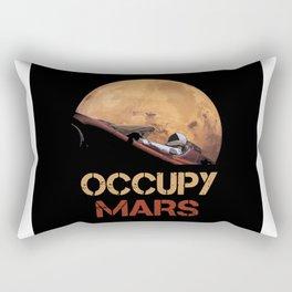 Occupy Mars Spacex Starman Rectangular Pillow