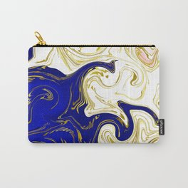 blue ,gold,rose,black,golden fractal, vibrations, circles modern pattern, Carry-All Pouch