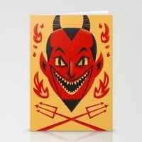 diablo Stationery Cards featuring El Diablo by John Clark IV