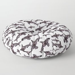 Watercolor Orca's Floor Pillow