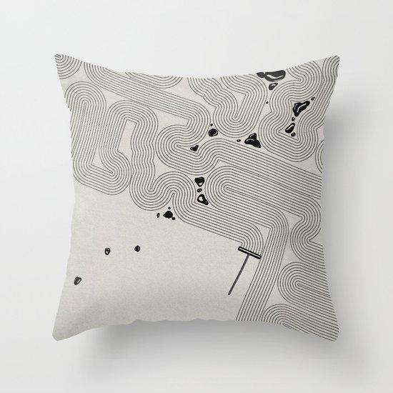 Zen Garden. Throw Pillow