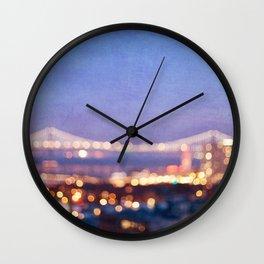 BAY BRIDGE GLOW - San Francisco Wall Clock