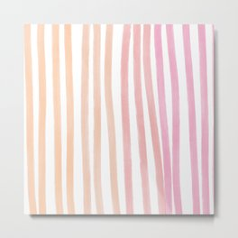 Taffy Chalk Stripes Metal Print