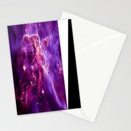 Mystic Mountain nebula. Purple Fuchsia Pink Stationery Cards