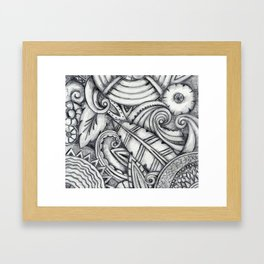Art Deco Leaves & Swirls Framed Art Print