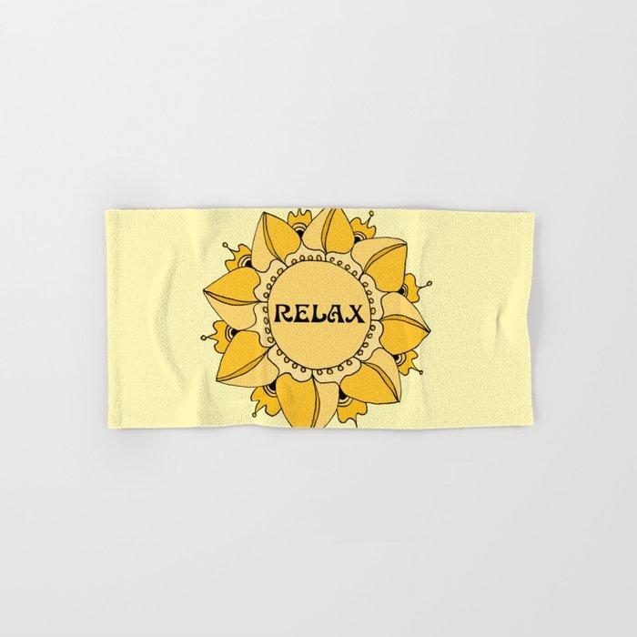 Relax Nouveau Golden Sun Mandala Hand & Bath Towel