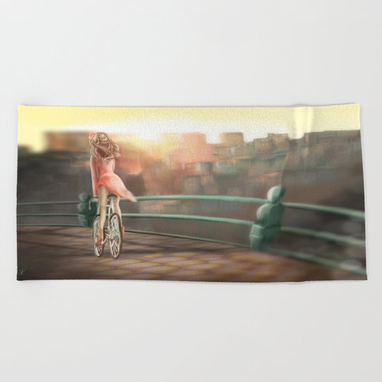 Keep your balance! Beach Towel