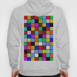 Checker Board Square Pattern Hoody