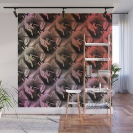 Limestone roses through rosy lenses Wall Mural