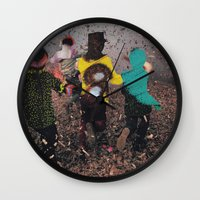 butterfly Wall Clocks featuring Butterfly by Lerson