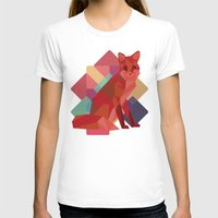 origami T-shirts featuring Origami Fox by Minette Wasserman