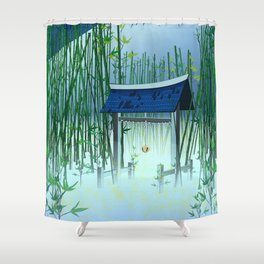 A moonless night Shower Curtain