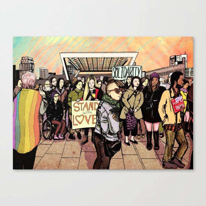 Love and Solidarity Canvas Print