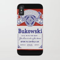bukowski iPhone & iPod Cases featuring bukowski by Mathiole