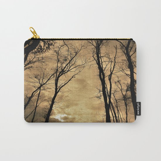 snow clouds above the wood Carry-All Pouch