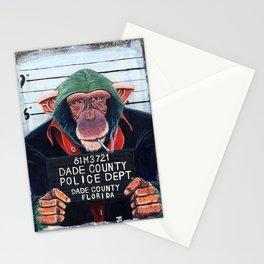 Monkey mugshot Stationery Cards