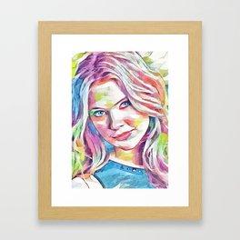 Ashley Benson (Creative Illustration Art) Framed Art Print